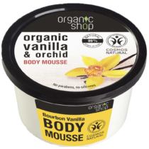 Organic shop testápoló mousse bourbon vanília 250 ml