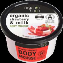 Organic shop testápoló mousse eper joghurt 250 ml