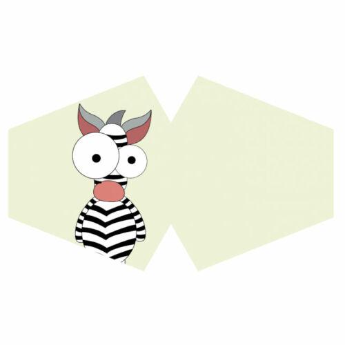 Mosható maszk - Bolondos Zebra (Gyermek méret)