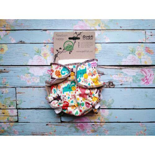 Petit Lulu ÚJSZÜLÖTT patentos nadrágpelenka belső - cicás
