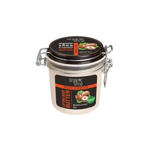 """Organic Shop Bőrfeszesítő testvaj """"Mediterrán mogyoró"""" 350 ml"""